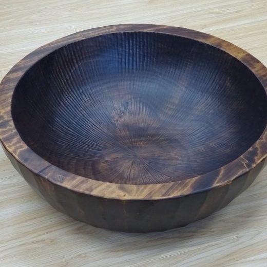 ウレタン塗装仕上げの秋山木鉢